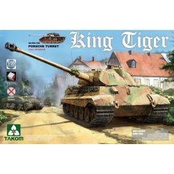 TANK -  WWII GERMAN HEAVY TANK SD.KFZ.182 KING TIGER PORSCHE TURRET W/INTERIOR [WITHOUT ZIMMERIT] - 1/35